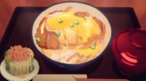 anime pork cutlet bowl as served on Yuri on Ice